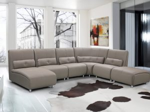 Clifton Leather Sectional Sofa