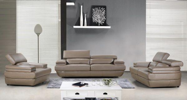 Dallas 3 Piece Full Leather Sofa