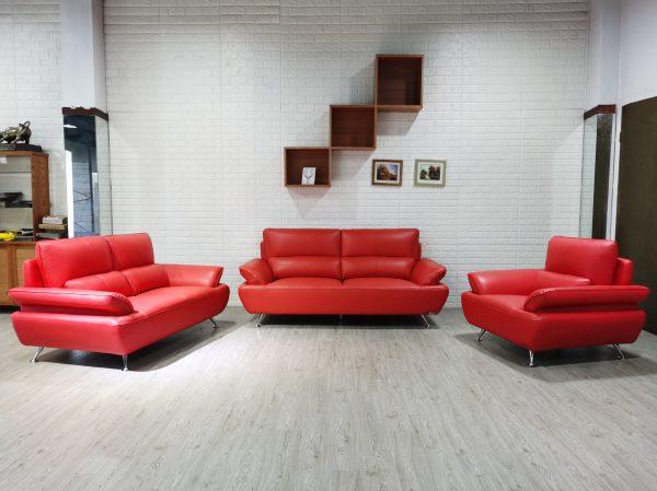 Modena 3 Piece Leather Sofa
