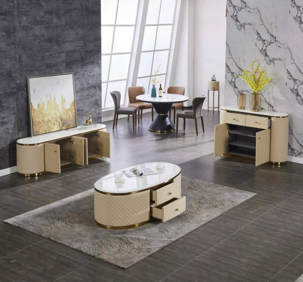 Morgan Coffee Table, TV Unit and Server