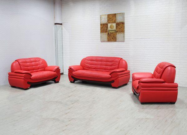Napa 3 Piece Leather Sofa